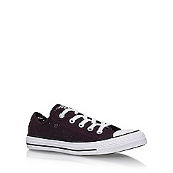 Converse - Red 'Ct Perfed Low' Flat Lace Up Sneakers