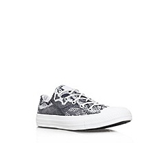 Converse - Black 'CT reptile low' flat lace up printed low top trainer