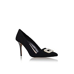 Carvela - Black 'Garden' high heel embellished court shoe