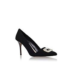 Carvela - Black 'Garden' high heel embellished court shoe
