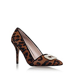 Carvela - Brown 'garden' high heel court shoe