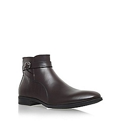 KG Kurt Geiger - Brown 'Nelson' chelsea boot with zip