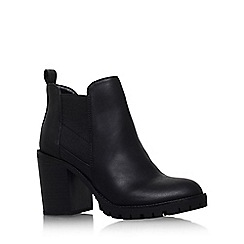 Miss KG - Black 'silent' high block heel ankle leather boot