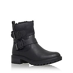 Miss KG - Black 'Snug' low heel biker boot