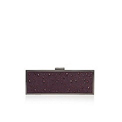 Carvela - Purple 'Gemini clutch' clutch bag with shoulder chain