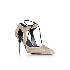 Carvela - Pewter 'Austin' high heel lace up court shoe