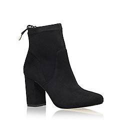 Miss KG - Black 'Swan' high heel ankle boot with lace detail
