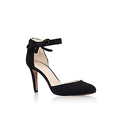 Nine West - Black 'Howley' high heel ankle strap court shoe