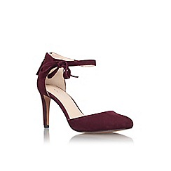 Nine West - Wine 'Howley' high heel ankle strap court shoe