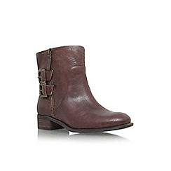 Nine West - Dark brown 'Justthis' low block heel ankle boot