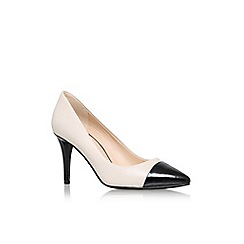 Nine West - White 'Pano' high heel court shoe