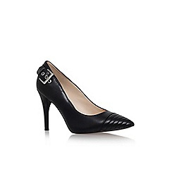 Nine West - Black 'firedup' high heel buckle detail court shoe