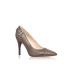 Nine West - Grey 'firedup' high heel buckle detail court shoe