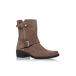 Anne Klein - Taupe 'Leyna' low block heel ankle boot