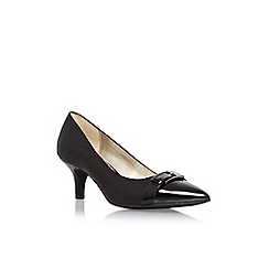 Anne Klein - Black 'Faigel2' mid heel court shoe