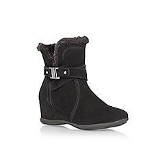 Anne Klein - Black 'Incaged' wedge heel ankle boot