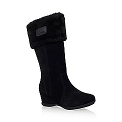 Anne Klein - Black 'Inda' mid heel wedge boot