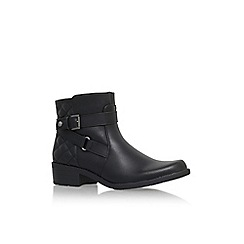Anne Klein - Black 'Lynzeeq3' flat buckle detail ankle boot