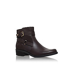 Anne Klein - Brown 'lynzeeq3' low heel buckle detail ankle boot