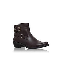 Anne Klein - Brown 'lynzeeq3' low heel buckle detail ankle boot