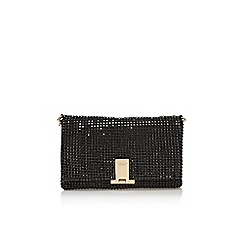 Carvela - Black 'Steph diamante clutch' small handbag with chain