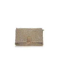 Carvela - Gold 'Steph diamante clutch' small handbag with chain