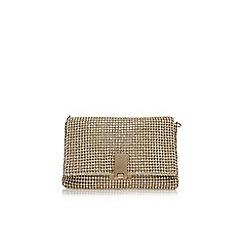 Carvela - Gold 'Steph diamante clutch' small handbag with chain
