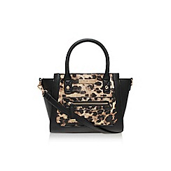 Carvela - Brown 'Hazel leopard zip bag' large handbag