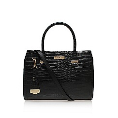 Carvela - Black 'Holly croc zip' large handbag with handles