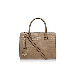 Carvela - Camel 'Holly croc zip bag' handbag