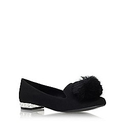 Carvela - Black 'Lap' low heel slip on loafer