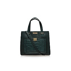 Carvela - Green 'Helia croc lock pckt bag' medium handbag with shoulder strap