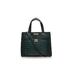 Carvela - Green 'Helia croc lock pckt bag' medium handbag with shoulder strap