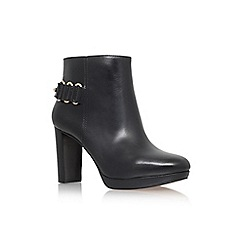 Nine West - Black 'Kali' high heel ankle boot with buckles