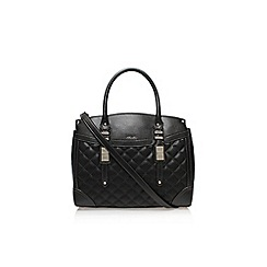Nine West - Black 'Flip lock satchel' handbag