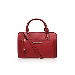 Nine West - Red 'Zip n go satchel' large handbag