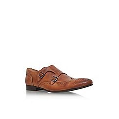 KG Kurt Geiger - Brown 'Vern' double buckle monk shoe