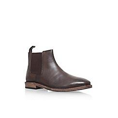 KG Kurt Geiger - Brown 'Bootle' flat chelsea boots