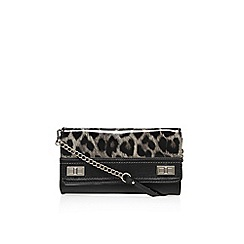 Nine West - Brown 'Flip lock' small handbag with shoulder chain