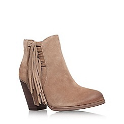 Vince Camuto - Taupe 'harlin' high heel fringe detail ankle boot