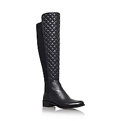 Vince Camuto - Justina black low heel knee boot