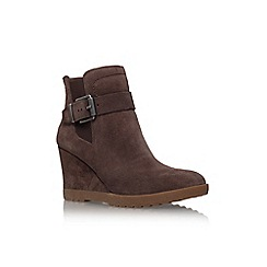 Vince Camuto - Brown 'Landri' high wedge heel ankle boots