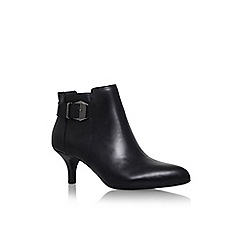Anne Klein - Black 'faeryn' mid heel buckle detail ankle boot