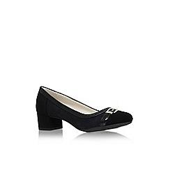 Anne Klein - Black 'hubert6' mid heel slip on court shoe