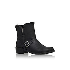 Anne Klein - Black 'lyvia3' low heel buckle detail ankle boot