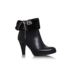 Anne Klein - Black 'talasi' high heel turn over detail ankle boot