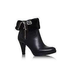 Anne Klein - Black 'talasi' high heel turn over detail ankle boot