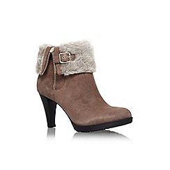 Anne Klein - Brown 'talasi' high heel turn over detail ankle boot