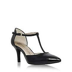 Anne Klein - Black 'Yatima' high heel t strap sandal