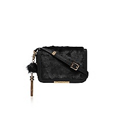 Carvela - Black 'Cale x body fur bag' medium handbag